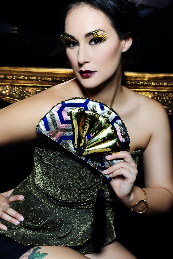 Peacock clutch in cobalt blue #bullets2beauty #emiandeve