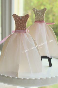 Glass Glitter-ed Dress Birthday Card ~ by Maureen at Cronin Company Store