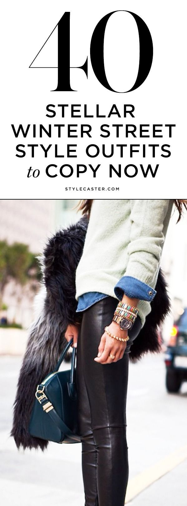 40 Amazing Street Style Outfits to Copy This Winter http://stylecaster.com/winter-chic-40-stellar-street-style-outfits-copy/