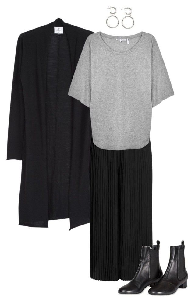 """Grey"" by kirsti-salonen on Polyvore featuring Eileen Fisher and Helmut Lang"