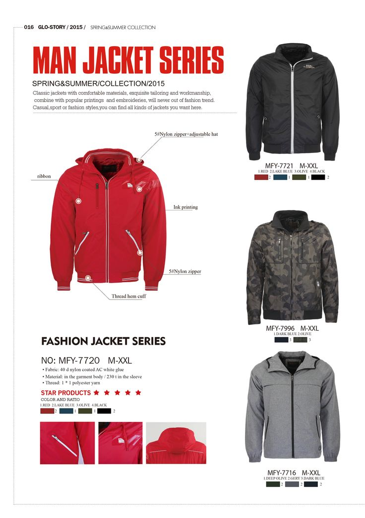 Man jacket series by Glo-Story  #formen #clothing #fashion #glostory #jacket #coat #red #black #grey #sporty
