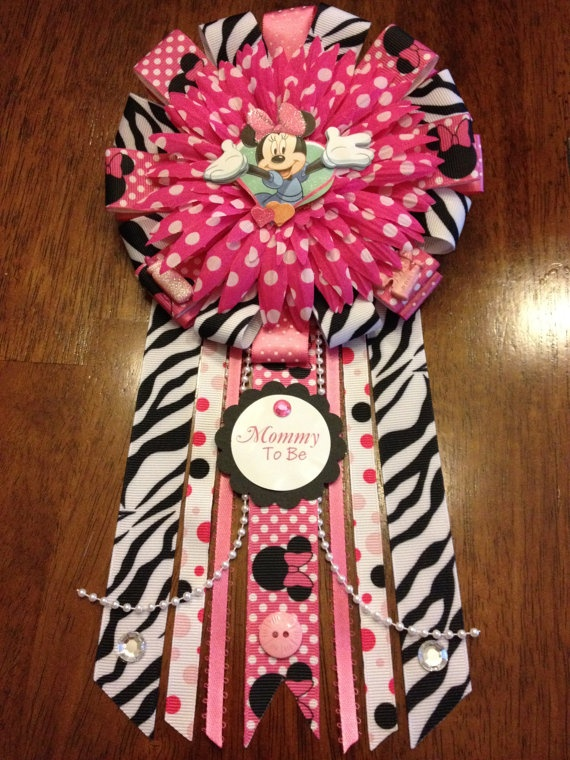 mini mouse baby shower theme | RESERVED Minnie Mouse Themed Mommy To Be by AngelinaBellaFina