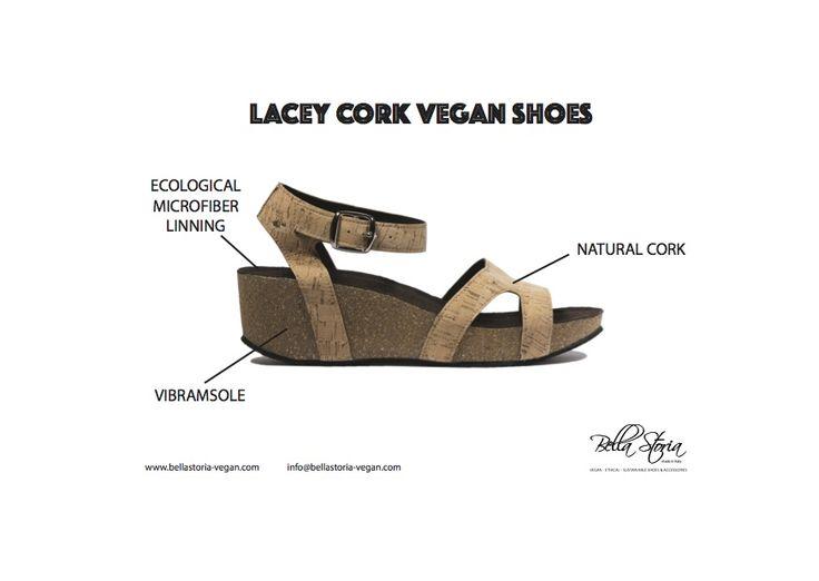 Lacey cork vegan middle - sole extralight vibram
