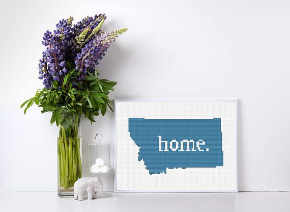 Montana pattern for beginners - Know a homesick college student in need of a gift? Want to represent your state pride? Trying to find that perfect homey touch? Going to a housewarming party? Look no further, the perfect hand crafted artwork is right here.