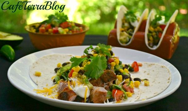 Smoked Pork Loin Tacos with Black Bean & Corn Salsa @Terra