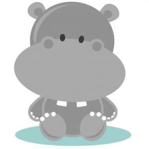 Daily Freebie 4-6-14: Miss Kate Cuttables--Baby Hippo SVG cutting file hippo svg cut file free svgs free svg cuts