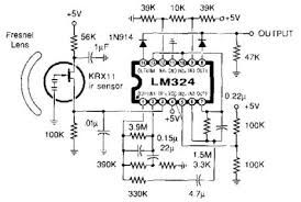 Image result for pir sensor circuit diagram using lm324