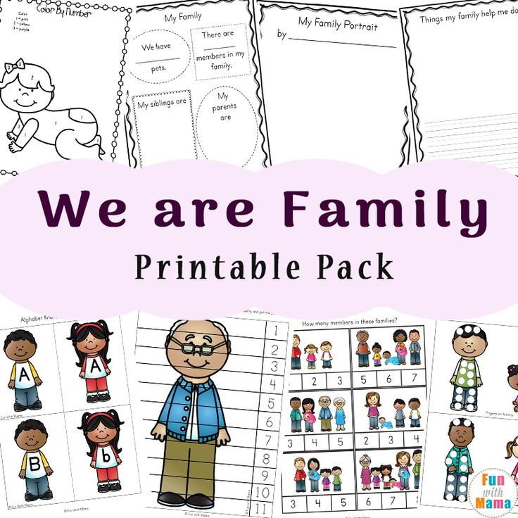 Family Theme Preschool And Family Worksheets For Kindergarten Family Activities Preschool Family Activities Kindergarten Family Tree Kindergarten Preschool kindergarten family members