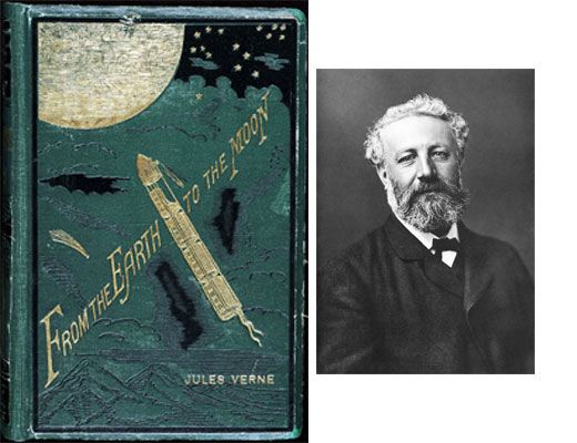 an analysis of the gun club in from the earth to the moon and around the moon by jules verne Vignette e: back to the moon  ''welcome to the baltimore gun club'' read the sign above the  called jules verne.