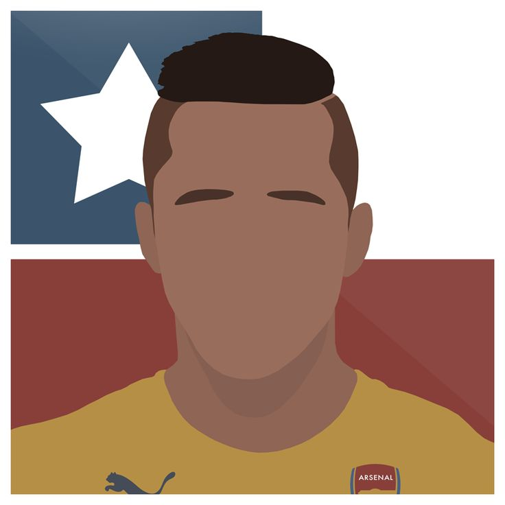 Sanchez   #Arsenal #AFC #Gunners #Premiership #Chile #Alexis #Sanchez #Football #England #Sport #Design #Futbol #Illustrator #Photoshop #Vector #UCL