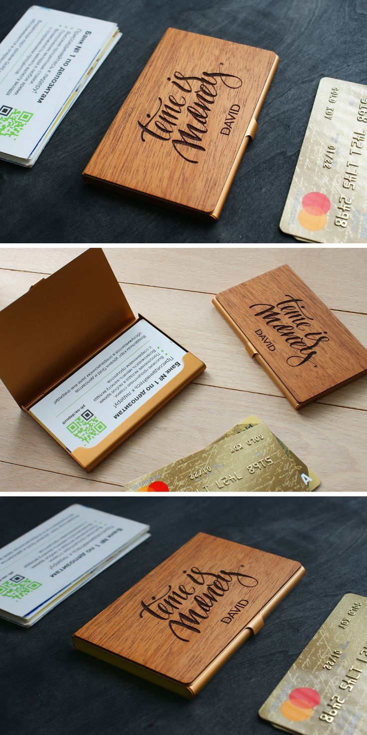 Personalized Business Card Case Custom Credit Card Holder Etsy Business Card Case Birthday Card For Boss Wood Business Cards