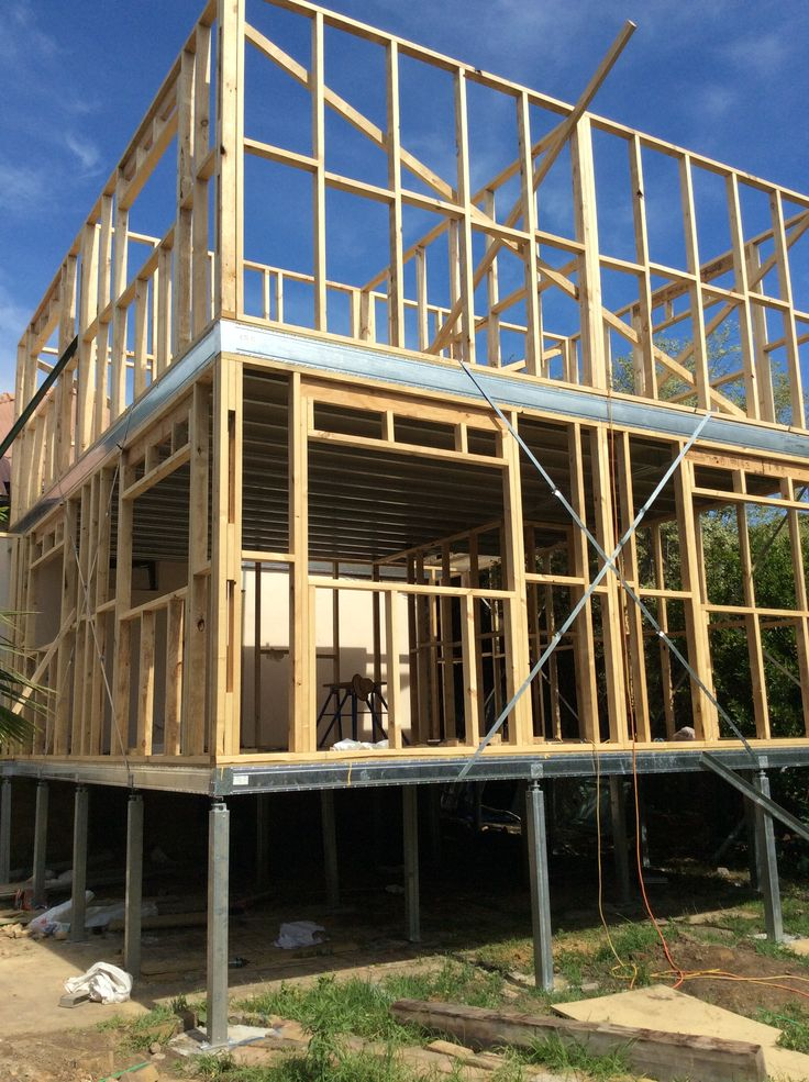 Boxspan steel bearer and joist on Ground Floor and Upper Floor Frames- Spantec EziPiers- Timber wall Frames