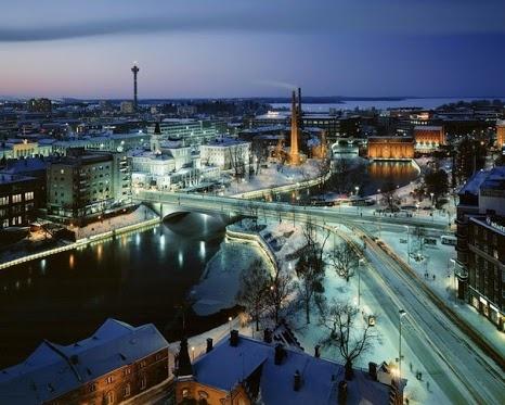 Atardecer en Tampere, Finlandia