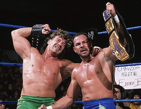 """""""Our dream was not to be the heavyweight champion of the world. Our dream was to be the tag team champions of the world… When we actually achieved that dream in Madison Square Garden of all places, at Survivor Series… it was our dream."""" –Chavo Guerrero on winning the WWE Tag Team Championships with his uncle Eddie; Two Man Power Trip (8/15/15)"""