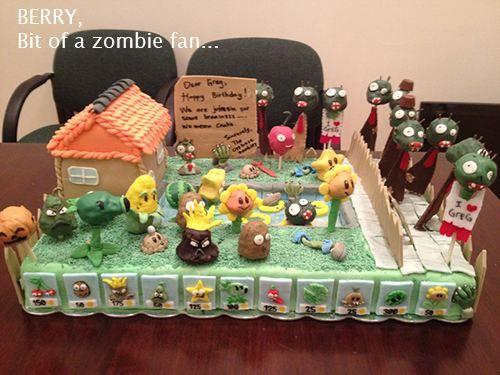 Plants Vs. Zombies Cake - love it!!