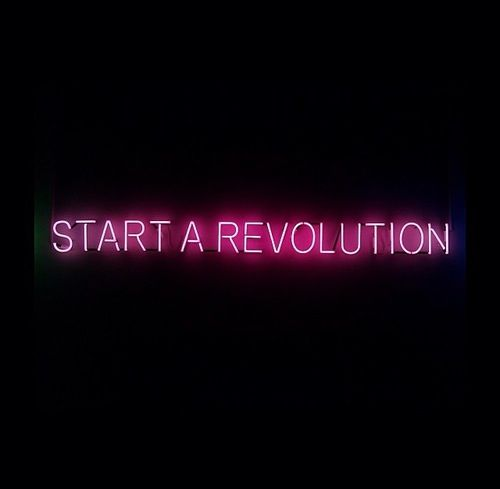 Light Up Neon Revolution Sign | Typography Word Art