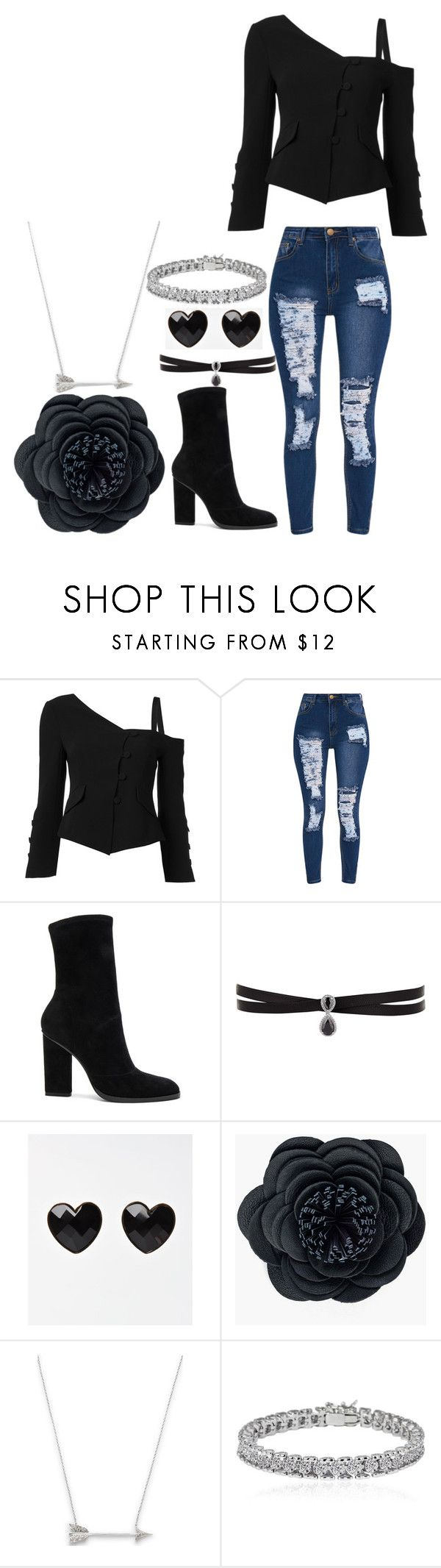 """""""Untitled #1080"""" by marythedemon ❤ liked on Polyvore featuring Cinq à Sept, Alexander Wang, Fallon, Chico's, Estella Bartlett and Apples & Figs"""