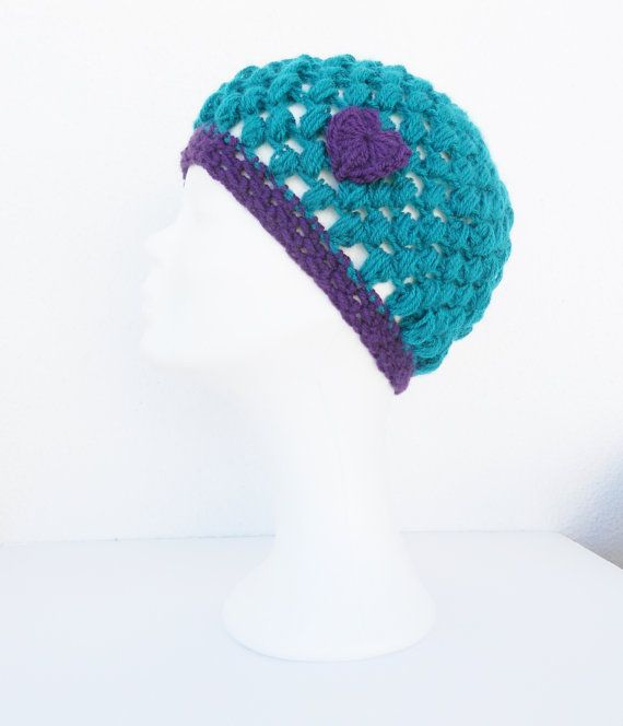 FREE Registered Shipping  Crochet beanie  Womens  petrol by IL2C