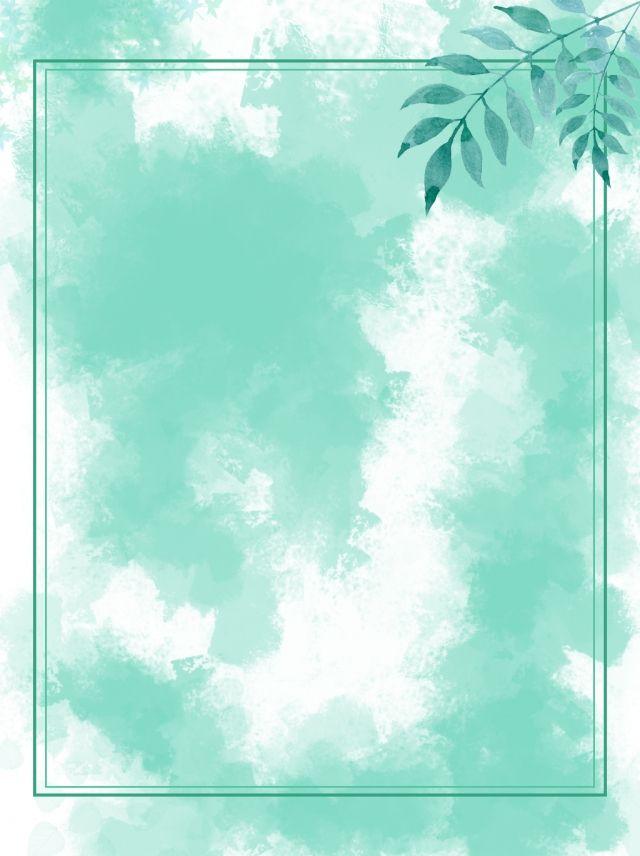 Fondo De Verano Verde Viento Acuarela Pastel Background Flower Background Wallpaper Background Design