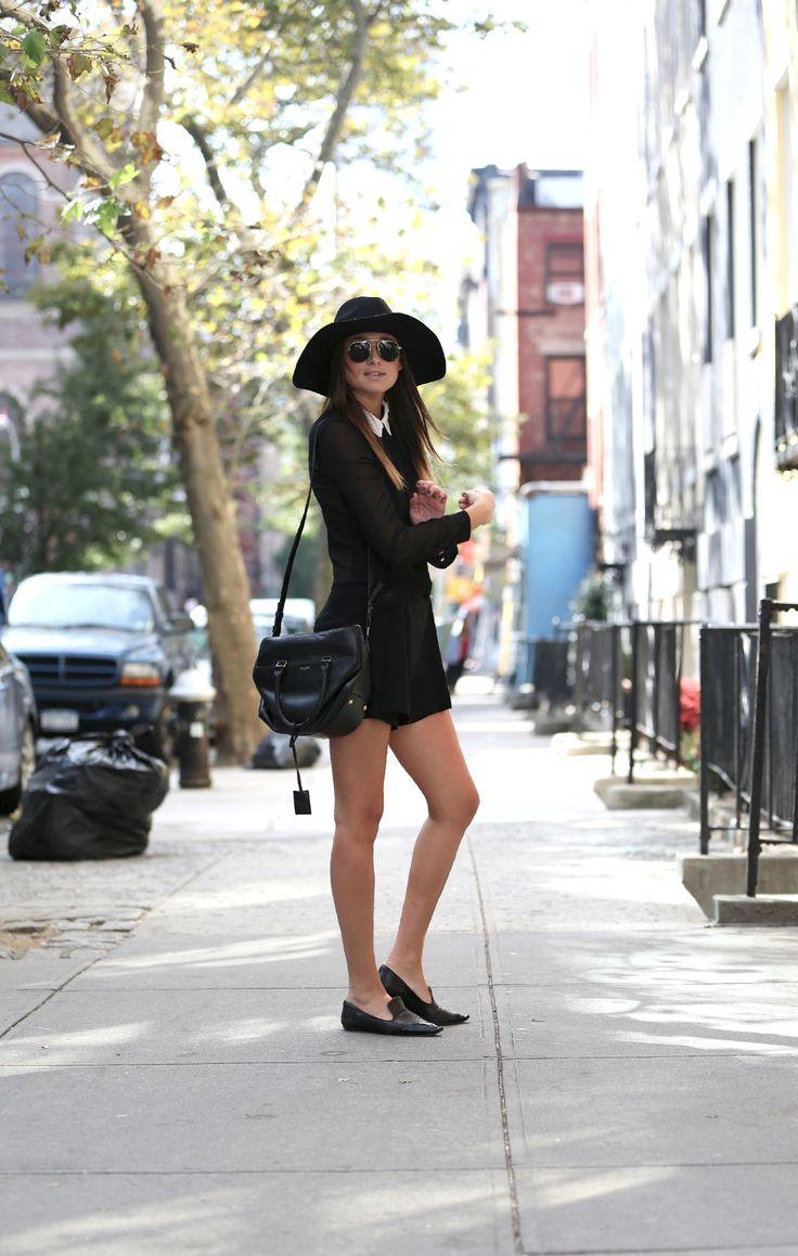 Zara romper, Saint Laurent bag, ASOS hat, Miu Miu shoes