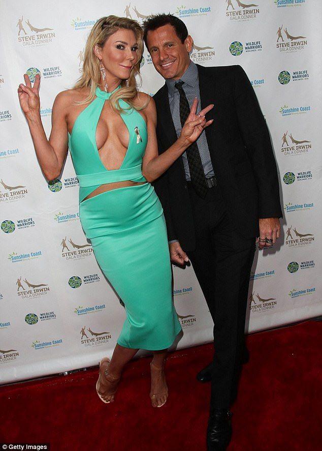 Gina Cardarella   Brandi Glanville flaunts EXTREME cleavage at Irwin Gala ...