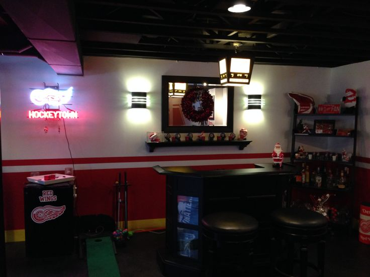 Man Cave Bar Detroit : Best images about our detroit red wing man cave on