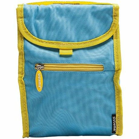 Sistema Fold Up Insulated Lunch Cooler Bag Blue
