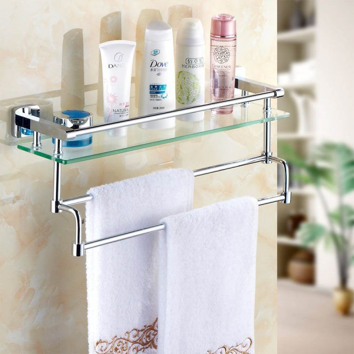Stunning Bathroom Assecories With Glass Bathroom Shelf With Towel Holder    –   – Bathroom Dyi