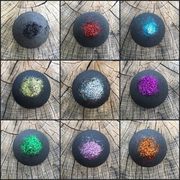 Black Bath Bomb Bubble Bath Bomb Glitter Bath Bomb Fun Bath Bomb ($5.00)