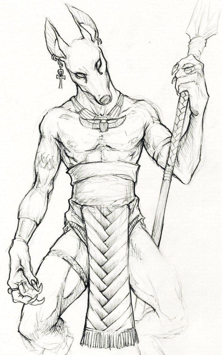 Anubis By Childofdune Jpg 708 215 1129 Egiptul Antic
