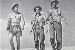 The Rats of Tobruk 1944 ; A war time drama which follows the characters Bluey (Grant Taylor), Milo (Chips Rafferty) and Peter (Peter Finch) who join the 2nd AIF at the outbreak of World War Two. They serve together in North Africa, where they take part in the defence of Tobruk.