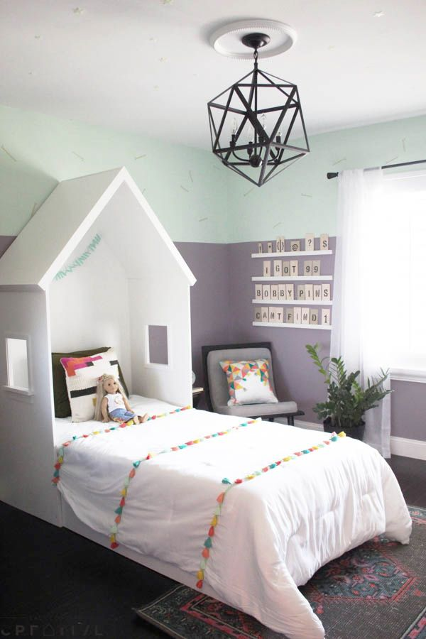 A Sweet Bedroom Makeover With Some Fresh Paint And A Few Simple Builds.  Watch This