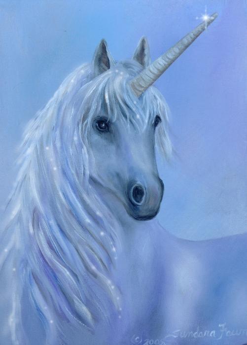 Healing Unicorn Canvas Print / Canvas Art by Sundara Fawn
