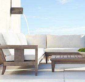 Coronado weathered grey teak outdoor furniture cg for Restoration hardware teak outdoor furniture