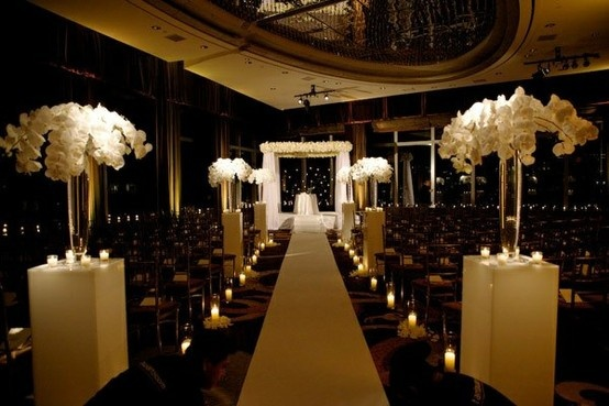 Romantic Indoor Ceremony Atmosphere