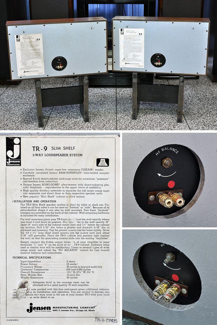 Jensen винтаж * Акустическая система Jensen TR-9 SLIM SHELF тюнинг система 1 пара
