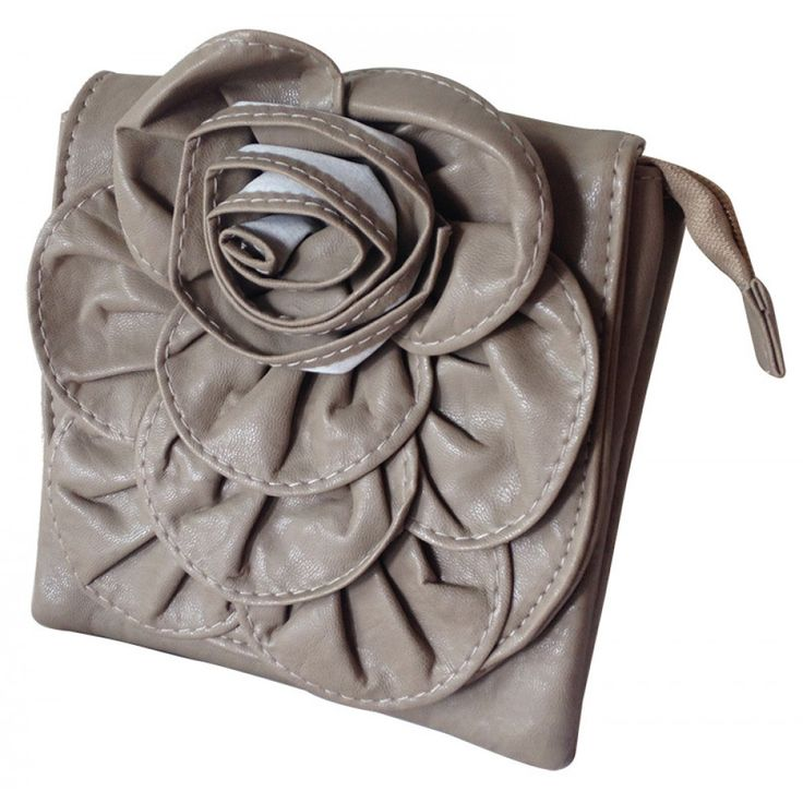 Taupe Flower Bag