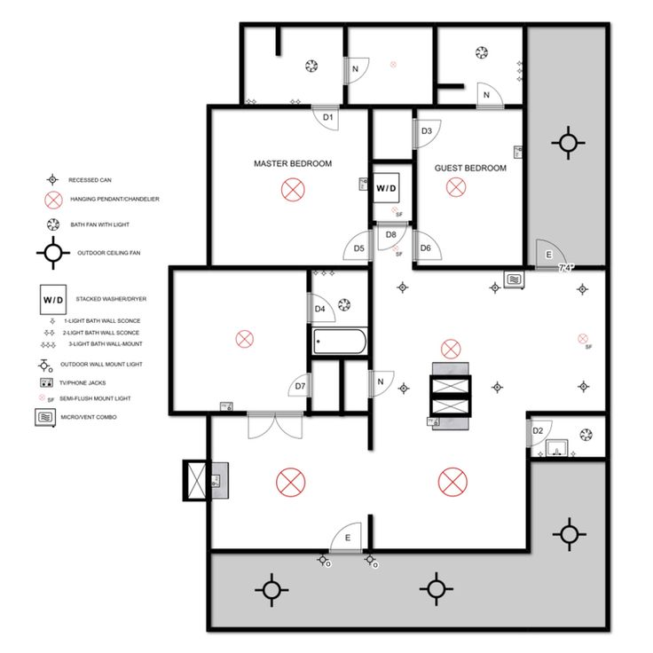 house plan wiring lights