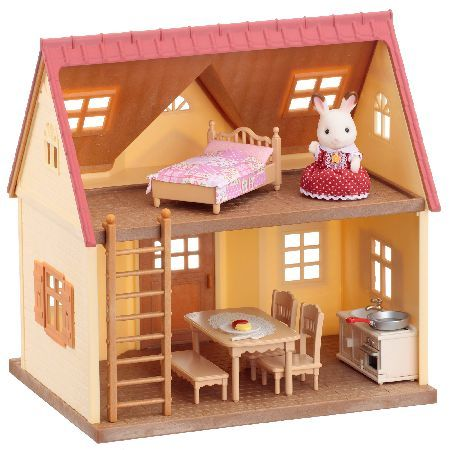 Sylvanian Families Cosy Cottage Starter Home Please note: Only one figure included. This wonderful and very versatile Sylvanian Families Cosy Cottage Starter Home comes with Freya Chocolate and some beautiful furniture. It can also be added to B http://www.MightGet.com/may-2017-1/sylvanian-families-cosy-cottage-starter-home.asp