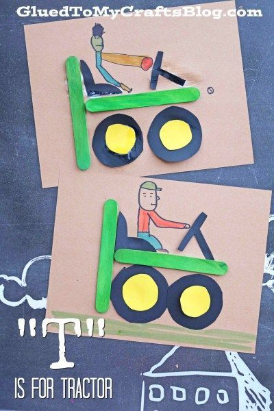 """T"" is for Tractor - Kid Craft Idea"