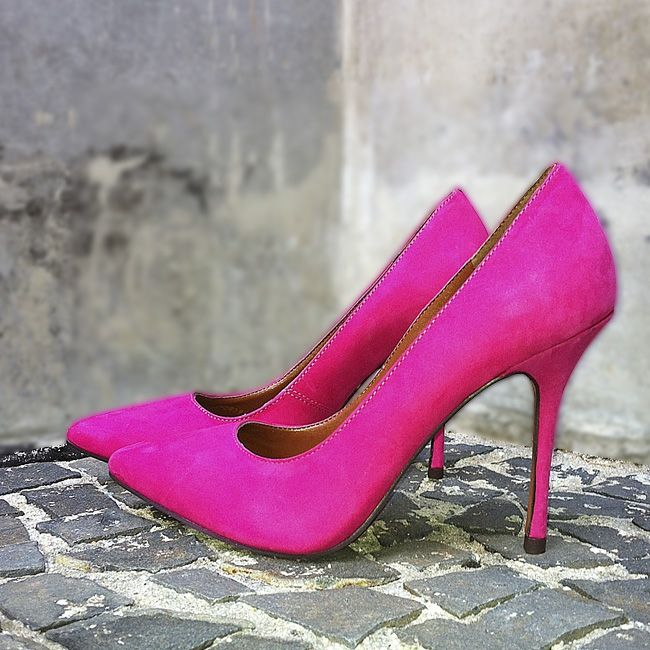 Pink Shoes! #shoestock #winter2014 #desejo #wishlist #pink #colorful - Ref 17.08.0809