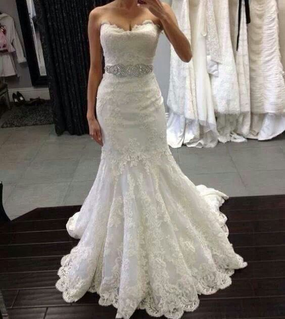 Pin by milena ribeiro de deus on dresses pinterest for White and gold lace wedding dress