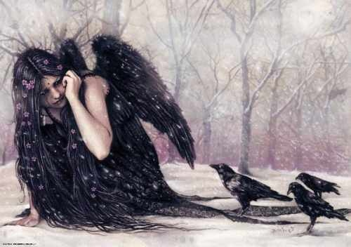 Crows Ravens:  A Raven Queen with her followers...