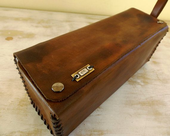Toiletry Bag Personalized Mens Leather by VakalisCreations on Etsy