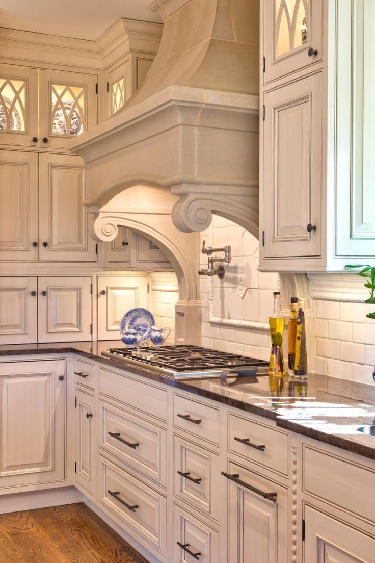 Traditional Range Hood Cover With Corbels   4 Types Of Kitchen Range Hoods  To Transform Your