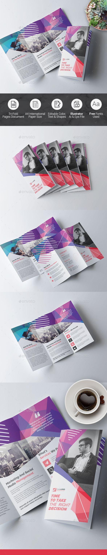 Tri fold Multipurpose Brochure — Vector EPS #flexible #multipurpose • Available here ➝ https://graphicriver.net/item/tri-fold-multipurpose-brochure/20709603?ref=pxcr