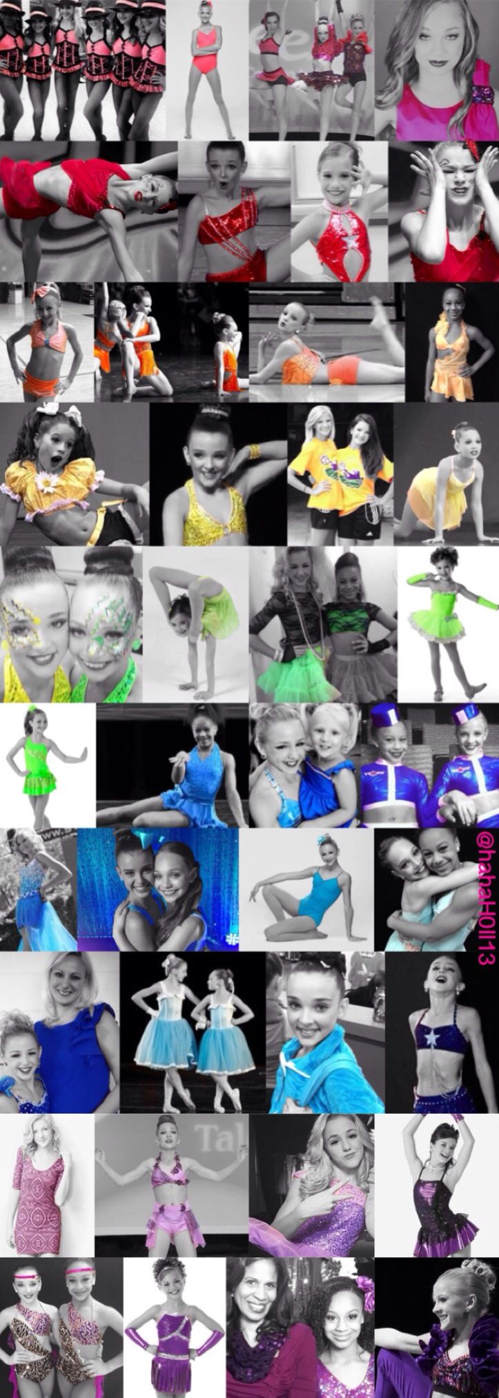 This is a really special edit I made for the Dance Moms cast and fandom. This is a Dance Moms color collage including: Brooke Hyland, Chloe Lukasiak, Kalani Hilliker, Kendall Vertes, Mackenzie Ziegler, Maddie Ziegler, Nia Frazier, and Paige Hyland. This edit was made by @hahaH0ll13 Please give credit. I also take requests for any DM edits!!