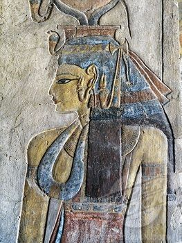 Egypt, Thebes, Luxor, Valley of the Kings, Tomb of Tausert, Expanded by Setnakht, Antechamber to burial chamber, Mural painting KV14D