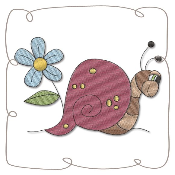 Snail Machine Embroidery Design Pattern-INSTANT DOWNLOAD