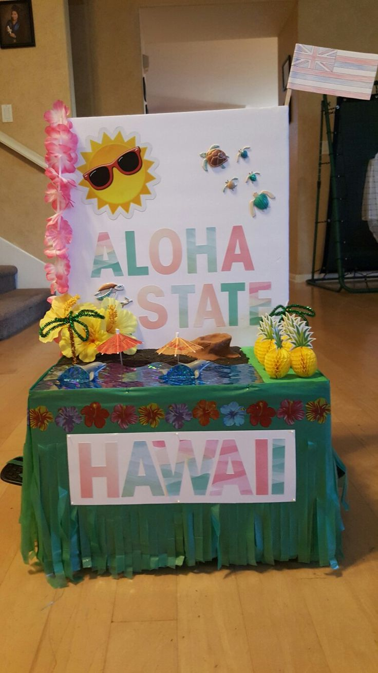 5th Grade State Float Project (front view) - HAWAII by ...